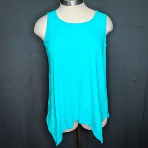 Style & Co Womens Tank Top T Shirt Plus 0X Teal